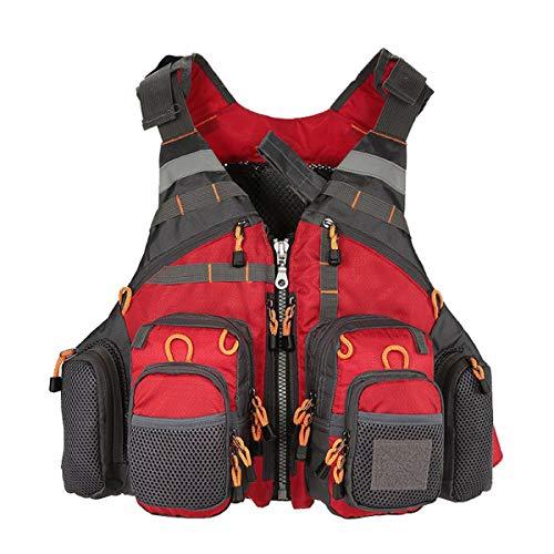 COEWSKE Chaleco de Pesca Multi-Bolsillo Transpirable Pecho Paquete Mochila para Hombres y Mujeres Fotografía de Caza al Aire Libre de Acampada
