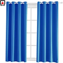 BEGOODTEX Flame Fire Retardant Room Darkening Curtain with Grommet,Royal Blue, 52W by 84L inch, 1 Panel