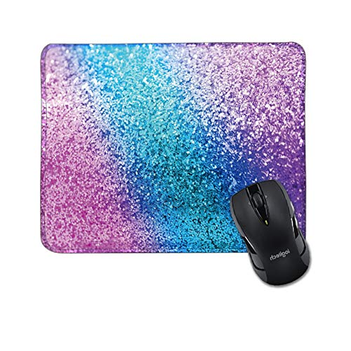 Colorful Glitter Gaming Mouse Pad Anti-Slip Rubber Rectangular Mouse Mat,Used for Laptops Desktop Computer Desk Accessories Office Desk Mouse Pad 9.45x7.87 inch