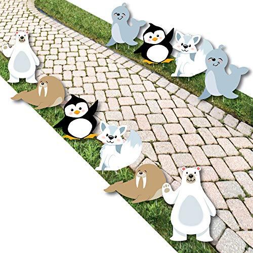 Big Dot of Happiness Arctic Polar Animals - Polar Bear, Seal, Penguin,...