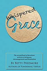 blue background, brown circlem whispered grace book cover