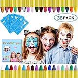 URAQT Crayones de Pintura Facial,Juego de Pintura Facial de 36 colores Para Niños para el Cuerpo...