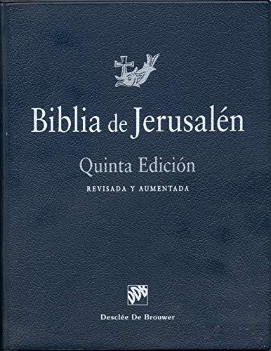 Biblia de Jerusalén: 5ª edición Manual totalmente revisada - Modelo 0