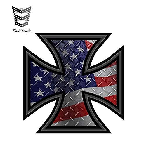 RJGOPL Autoaufkleber 13cm x 9,7cm wasserdichter Sticker USA America Liberty Statue Flag Aufkleber Autoaufkleber wasserdichtes Autozubehör