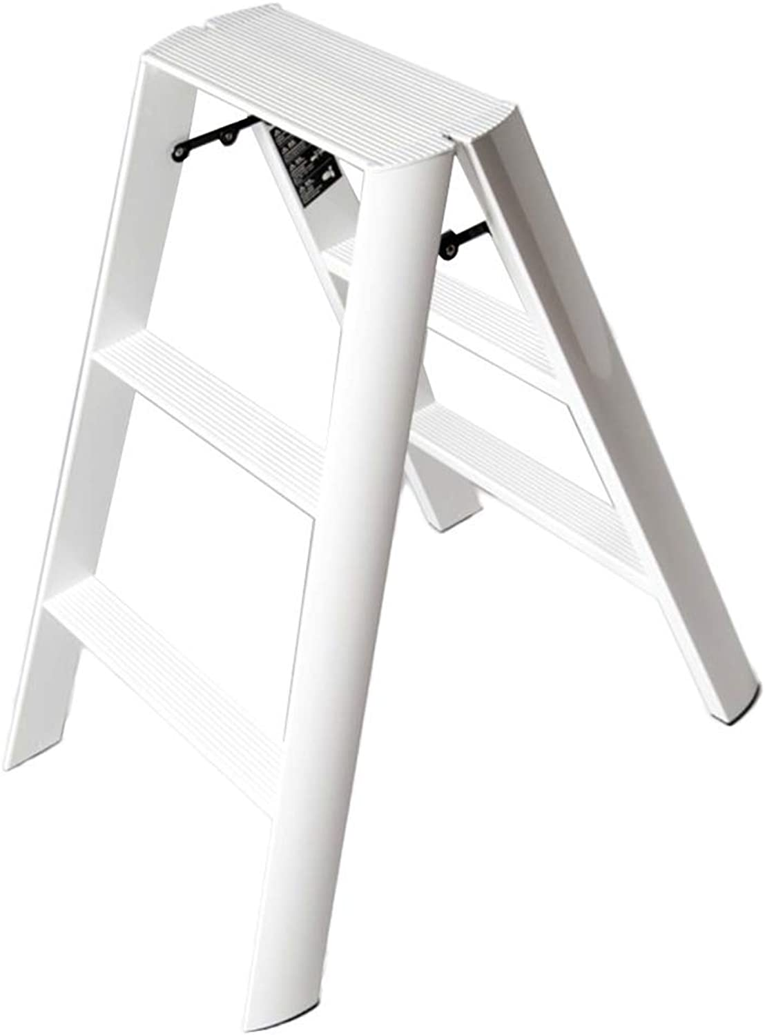 BXJ 3 Steps Ladder Stool Household Folding Indoor Aluminum Alloy Thickening Ladder