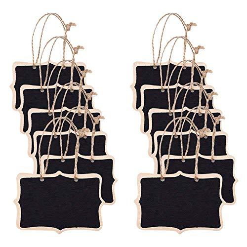 Mini Tafel,12 Stück Kleine Tafel Mini Tafel Schiefertafel Mit Hängenden String Anzahl Anschlagbrett für Party Hochzeit Tisch Küche Shop Home Office Nummer Nachricht