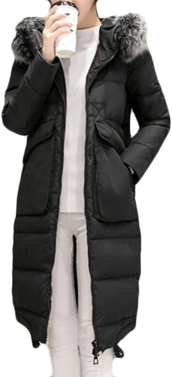 GAGA Women Classic Plus Size Slim Fit Solid color Down Jacket