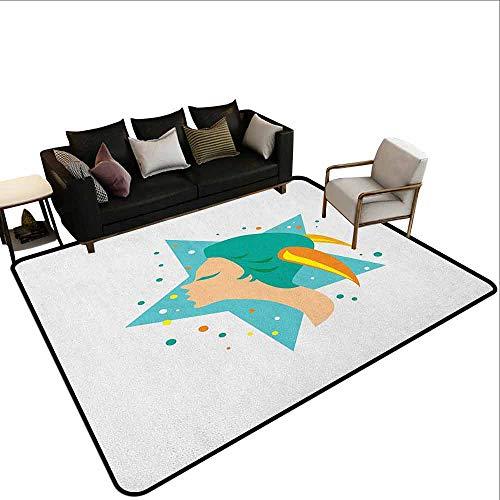 MsShe Slaapkamer woonkamer bescherming mat Zodiac Steenbok, Abstract Symbool van Dagelijkse Horoscoop met Sterren Zodiac Teken Afbeelding, Goud en Zwart