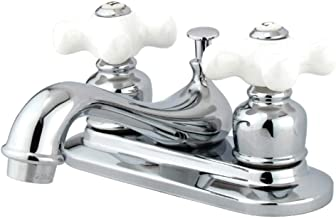 Kingston Brass GKB601PX Restoration 4-Inch Centerset Lavatory Faucet with Retail Pop-Up, 4-1/2 inch in Spout Reach, Polish...
