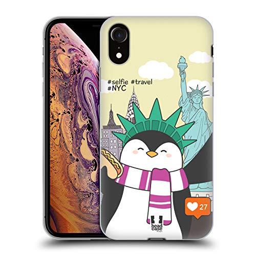 Head Case Designs Nueva York Selfies de Viaje Carcasa de Gel de Silicona Compatible con Apple iPhone XR