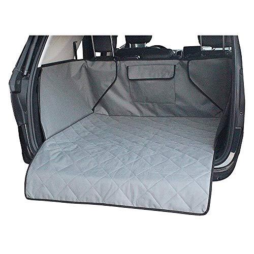 Alfombrilla impermeable para maletero para perros y mascotas, funda antideslizante para maletero de coche, funda para asiento trasero, bolsillos para SUV y mascotas (color: gris)