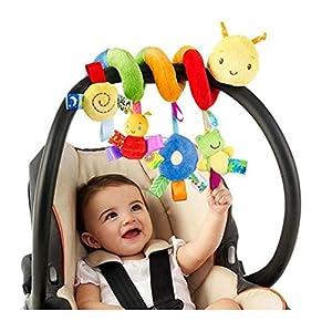Cuna de gusano para bebé infantil Cama alrededor de campana de sonajero Cochecito de insectos de dibujos animados Colgando Peluche Envuelto Espiral Juguete de seguridad, Actividad Espiral Jugue