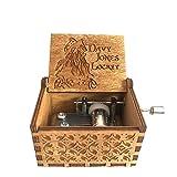 Caja de música de madera con manivela de madera de anonimato Davy Jones Locket tema caja de música de madera