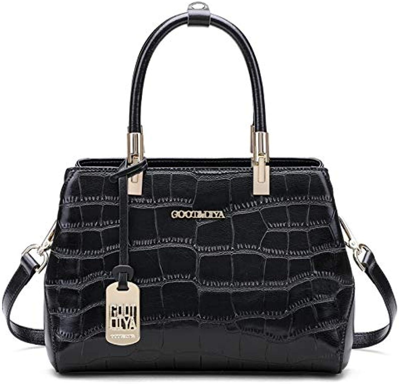 Mueka Damen Damen Damen Handtasche,Marken Handtaschen Damen,Mode-Krokodilleder-Tasche,Wasserdicht Und Verschleißfest(schwarz Dunkelrot) B07KP1CZYH 1b2aeb