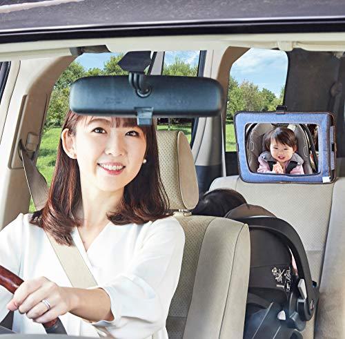 SmartStartスマートスタート前を向いたまま赤ちゃんの様子を見られるスマートドライブミラーデニム