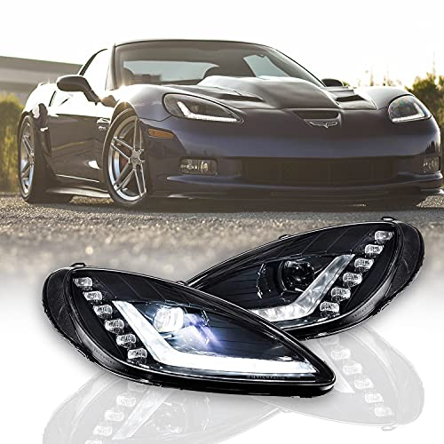 Morimoto XB LED Headlights, Plug and Play Headlight Housing Upgrade, Fits 2005-2013 Chevrolet Corvette C6, DOT Approved Assembly with...