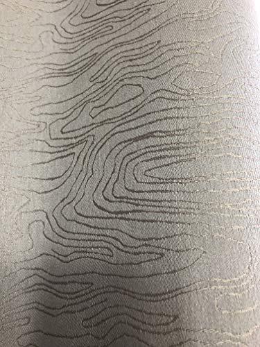 Tissu jacquard idéal nappes, faux uni marron glacé nacré en 280 cm de large