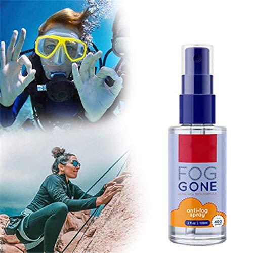 2pcs Anti Fog Spray for Glasses,New General Antifogging Agent for Glass,Lasting Intensive Anti-Mist Spray, for Helmet Visors Goggles, Glasses, Mirrors, Windows(120ml)