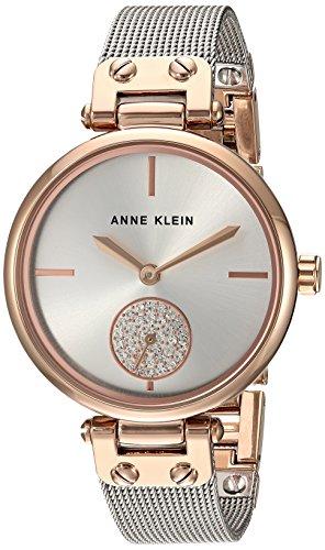 ANNE KLEIN Reloj analógico para Mujeres de Cuarzo japonés con Correa en Acero Inoxidable AK/3001SVRT