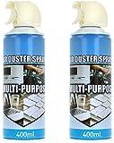 com-four® 2X Spray a Pressione d'Aria con Estensione Spray da 13 cm - Spray detergente per PC, tastiere, Console di Gioco e Altro - Filtro ad Aria compressa da 400 ml ciascuno