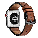 Zeiger Genuine Leather Strap for iWatch Series 5/4/3/2/1 42mm 44mm All Edition, Genuine