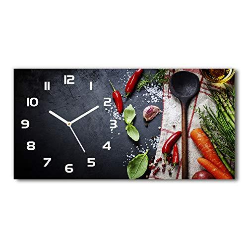 Tulup Reloj De Pared De Vidrio 60x30 Silenciosa Grande Original Moderno Decorativo Blanco - componentes