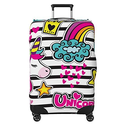 Unicorn Rainbow Kids Suitcase Cover Protector Skin Multi-Coloured Medium 24' - 29' (Suitcase Not Included)