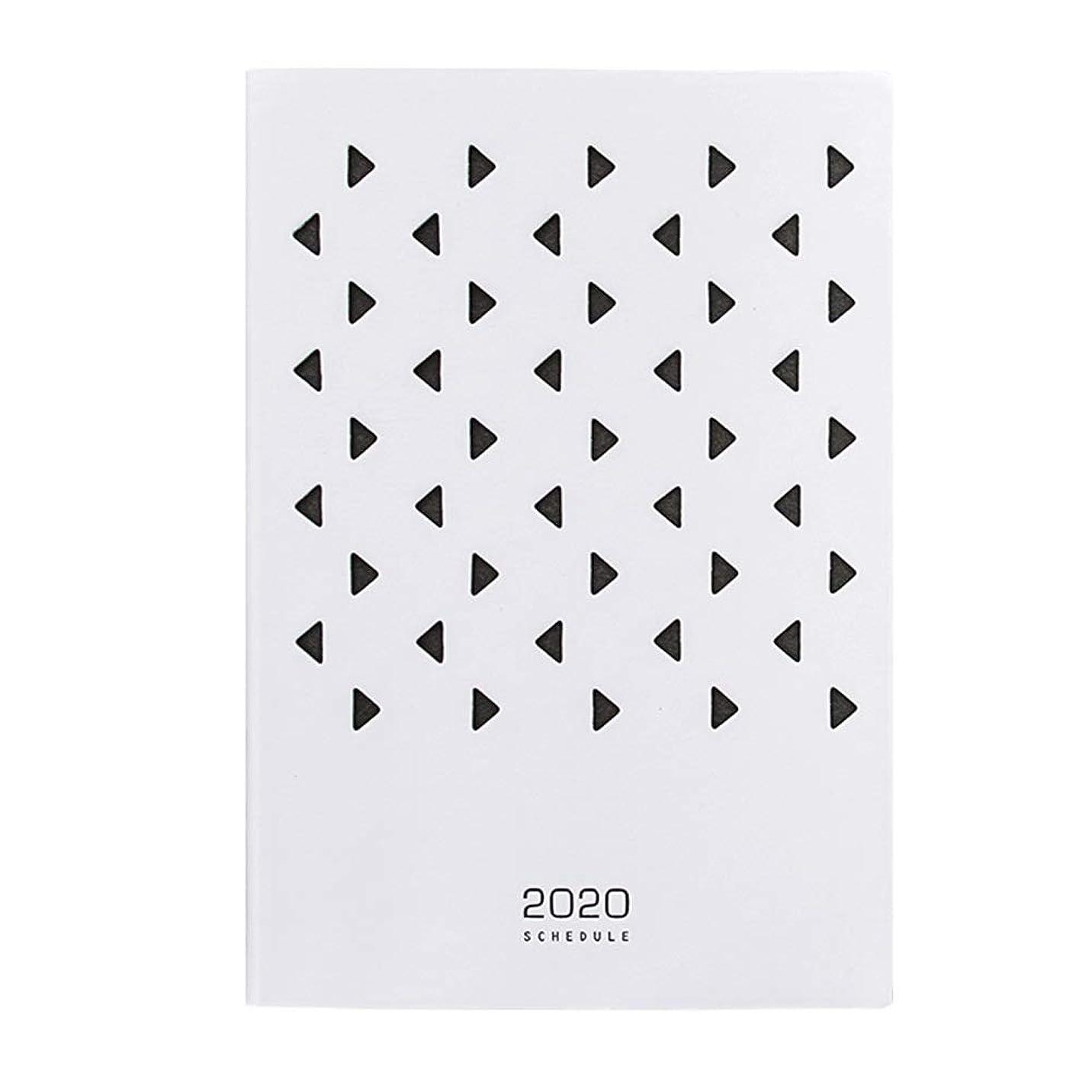 スキッパー農奴ランタンA5 Notebook 2020 Schedule Creative Hollow Calendar Notepad Timeline Work Diary Simple Leather Notepad Blingstars
