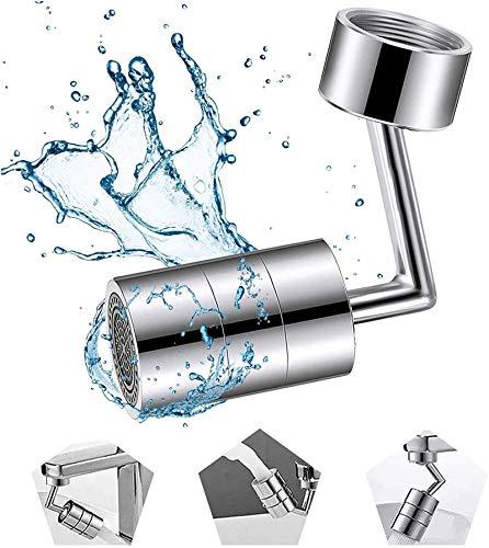 wgkgh Rotación de 720 grados Universal Splash Filter Faucet, giratorio grifo aireador, anti-salpicaduras, para lavado de cara, gárgaras y ojos Flush M22FemaleThread