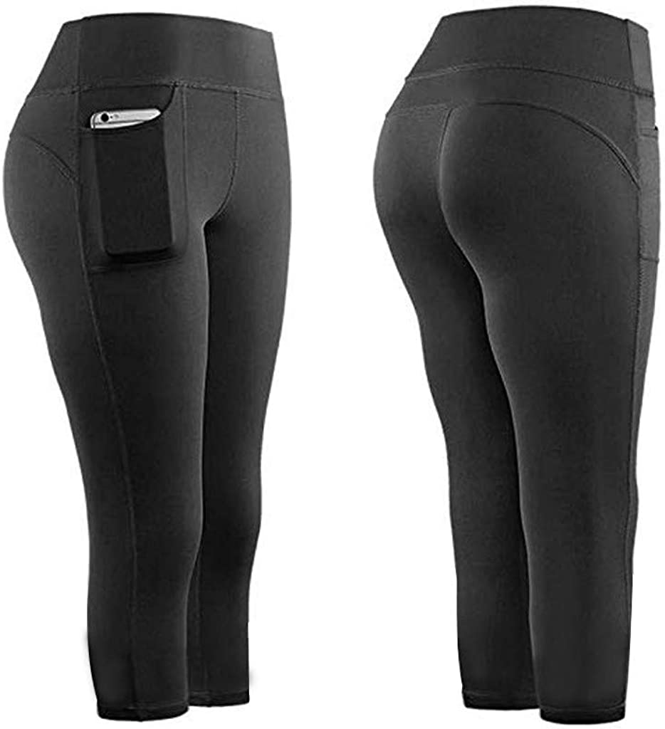 UOKNICE Women Yoga Pants,Women Stretch Yoga Leggings Pockets Fit