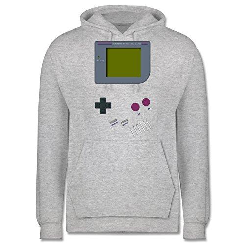 Shirtracer Nerds & Geeks - Gameboy - XXL - Grau meliert - Gameboy Pullover - JH001 - Herren Hoodie und Kapuzenpullover für Männer