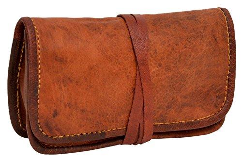 Gusti Leder nature ''Bradley'' Porta tabacco porta auricolari e batteria vintage Unisex A2