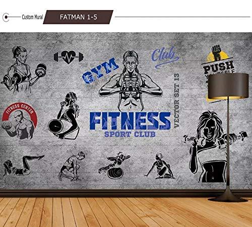 MINCOCO Retro Nostalgie-großer Baum-Schattenbild-Yoga-Pavillon-Wand-Yoga-Schönheits-Turnhallen-Dekorations-Wandbild-kundenspezifische Tapete 3D, 300x210 cm (118.1 by 82.7 in)
