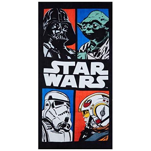 Star Wars asciugamano 140x70cm, telo mare 100% cotone, diversi disegni tratti dal film (Star Wars VII 2016), per bambini COMIX