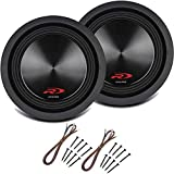 Alpine SWR-8D4 Car Audio Type R Dual 4 Ohm 700 Watt 8' Subwoofers with Sub Install Kit Package