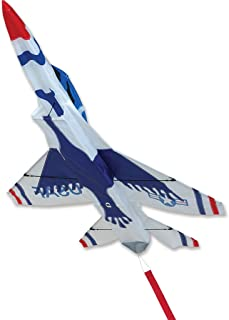 Premier Kites 3D Jet Kite F16 Thunderbird Design | Easy to Assemble and Easy to Fly 3D Kite | an Enjoyable Kite for Adults and a Thrilling Kite for Kids | Great 3D Kite for The Beach or Park