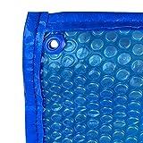 Cobertor Cubierta Fundas para Piscinas, Cubiertas Solares Resistentes para Piscinas, Burbuja Rectangular Sobre El Suelo Lona para Cubierta de Piscina con Ojales, 1m / 2m / 3m / 4m / 5m / 6m / 7m / 8m