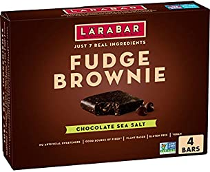 Larabar Chocolate Sea Salt Brownie With Hemp Seed, 1.6 oz bars, 4 ct