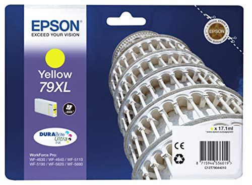 Epson 79 Serie Torre, Cartuccia Originale Getto d'Inchiostro DURABrite Ultra, Formato XL, Giallo, con Amazon Dash Replenishment Ready