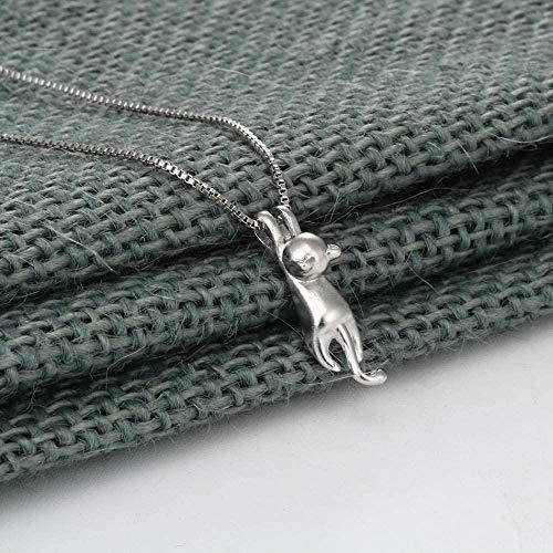NC122 ODD Necklace Tiny Cute Animal Kitty Cat Collares y Colgantes para joyería de Mujer