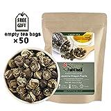 FullChea - Jasmine Pearl Tea - Jasmine Dragon Pearls - Loose Leaf Green Tea -...