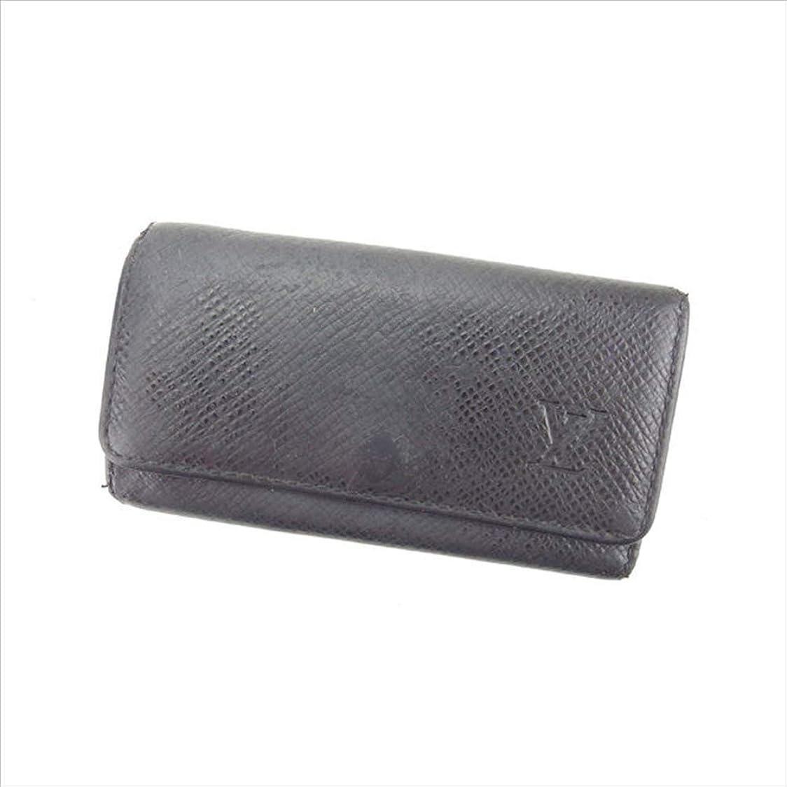 賠償大邸宅ソーシャル(Louis Vuitton) ルイヴィトン キーケース 4連キーケース 男女兼用 ミュルティクレ4 M30522 タイガ 中古 G836