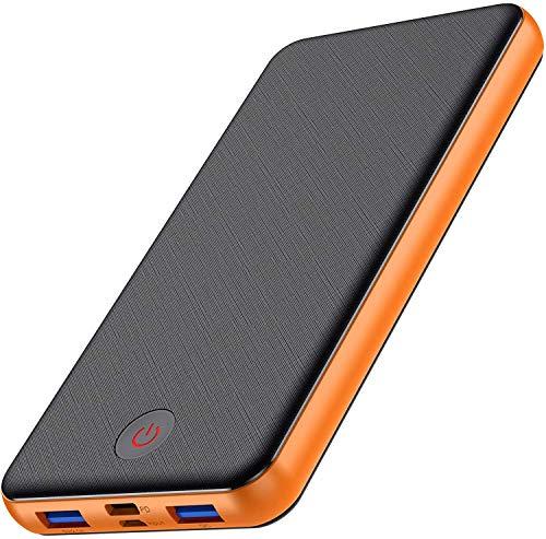 iPosible Batería Externa Carga Rápida 26800mAh Power Bank 18W PD QC 3.0 Cargador Movil Portátil con 3 Salidas y 2 Entradas Type-C Batería Externa para Android Smartphones Tabletas etc