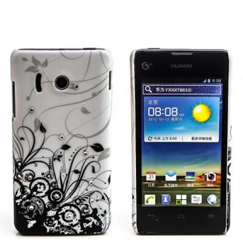 numerva kompatibel mit Huawei Ascend Y300 Hülle Motiv Case Ascend Y300 Schutzhülle Strass QJC-262