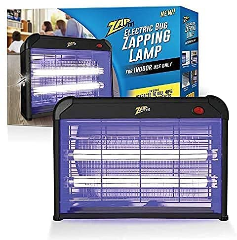 Zap It Electric Indoor Bug Zapper (2,800 Volt) Plug-in 360 Degree Mosquito, Bug, and Insect Killer, Non-Toxic Attractant UV Light and Electric Shock