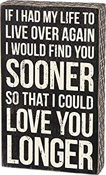 Primitives by Kathy 27283 Classic Box Sign I Could Love You Longer