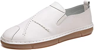 Battle Men Oxford Shoes for Men Formal Shoes Slip On Style PU Leather Round Toe Simple Pure Color Casual Low Top Fashion (Color : Cream-Coloured, Size : 9 M US)