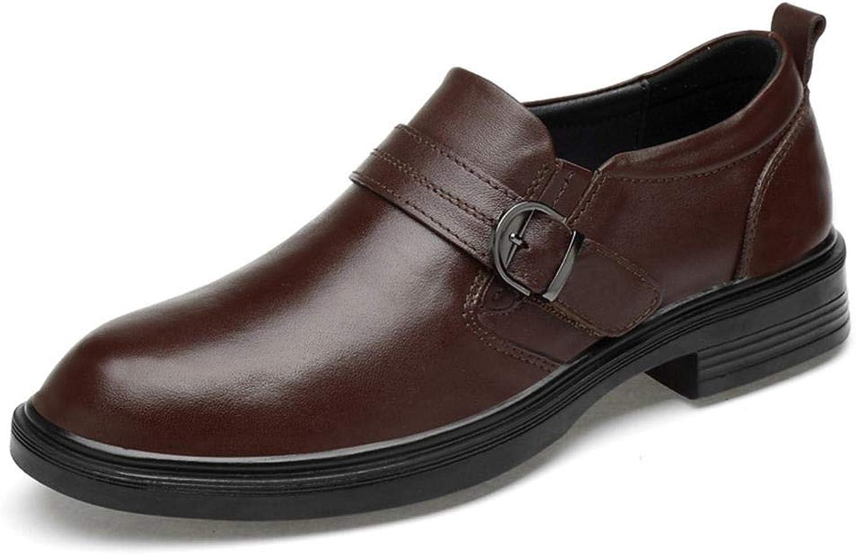 EGS-chaussures Cuir supérieur Couche Chaussures en Cuir Souple des Hommes Chaussures en Cuir d'affaires Occasionnels Chaussures de Cricket (Couleur   Noir, Taille   44)