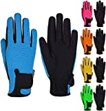 Mashfa Kids Horse Riding Gloves Children Equestrian Horseback Winter Biking Bike Gardening Ski Snow Cycling Boys & Girls Mittens Pony Youth Outdoor Mitts (Blue, Age 10-12 Years) hunting gloves Mar, 2021