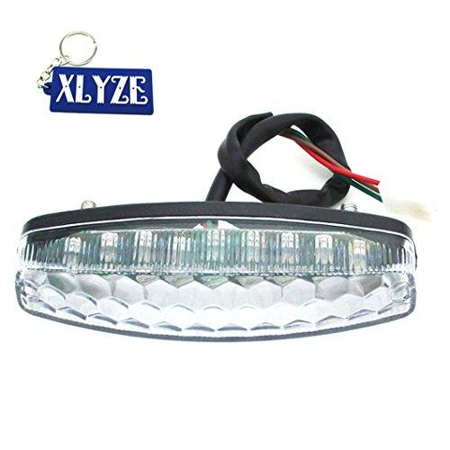 XLYZE Luz de freno trasera LED para 50 cc, 70 cc, 90 cc, 110 cc, 125 cc, chino, ATV Quad 4 Wheeler NST Sunl Taotao Roketa